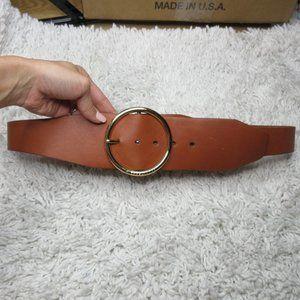 Michael Kors Wide Brown Leather Belt 554126 sz L